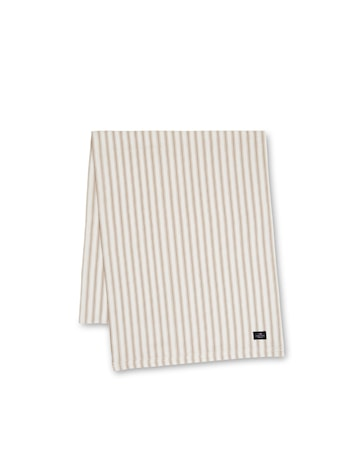 Icons Cotton Herringbone Bordslöpare Beige/Vit 50x150cm