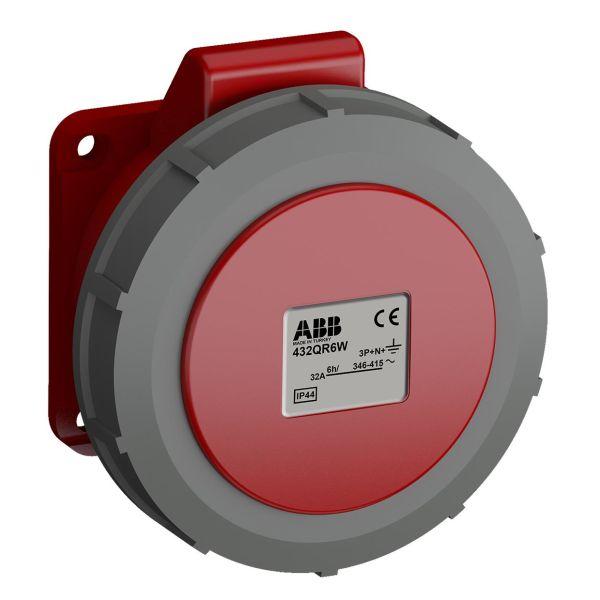 ABB 2CMA102396R1000 Paneluttak hurtigtilkoblet, vibrasjonsbestandig Rett, 5-polet, 32 A