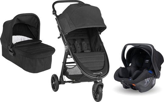 Baby Jogger City Mini GT 2 Sportsvogn inkl. Babybilstol, Liggedel & Adapter, Jet Black