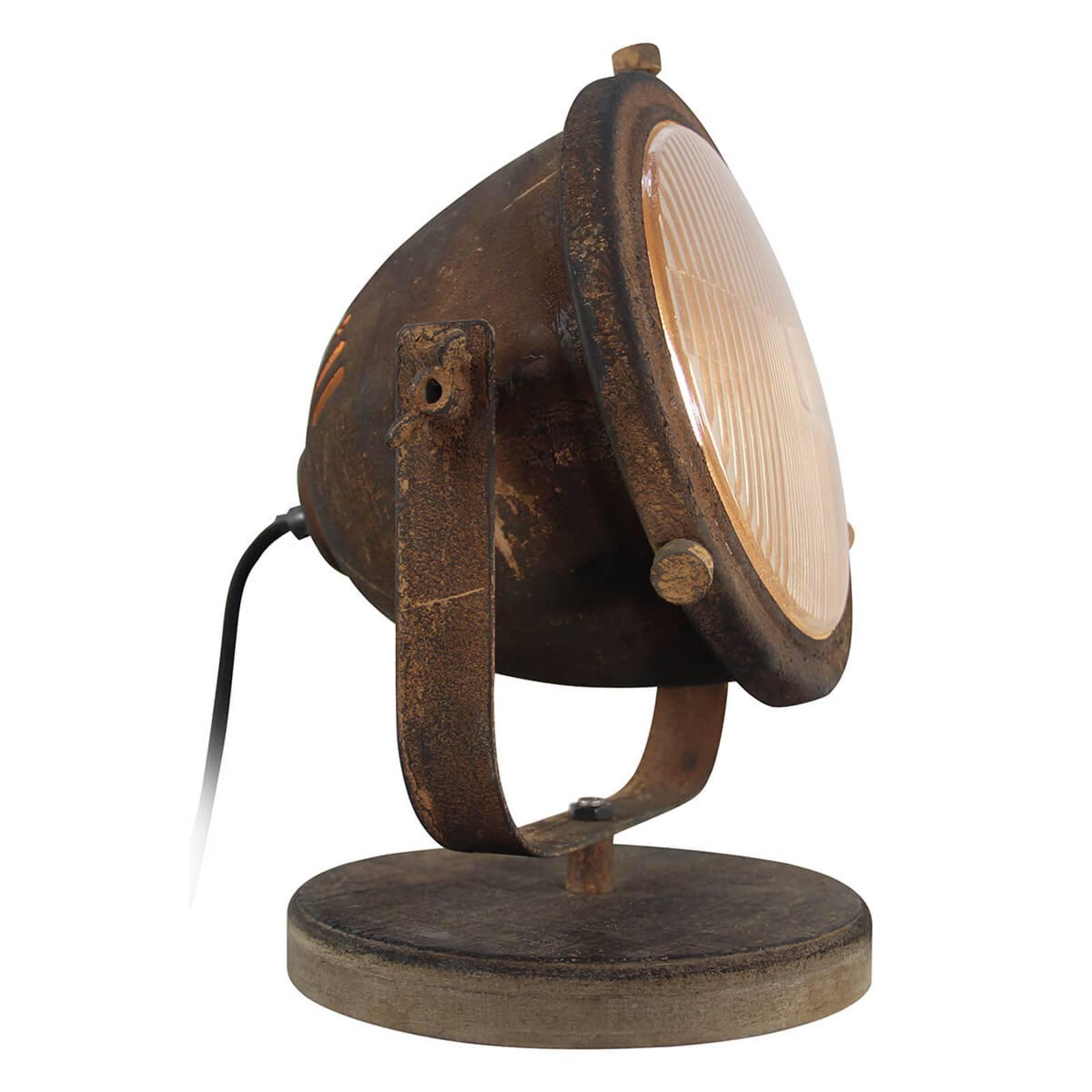 Bordlampe Carmen i industriell stil, rustfarget