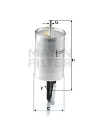 Polttoainesuodatin MANN-FILTER WK 832/1