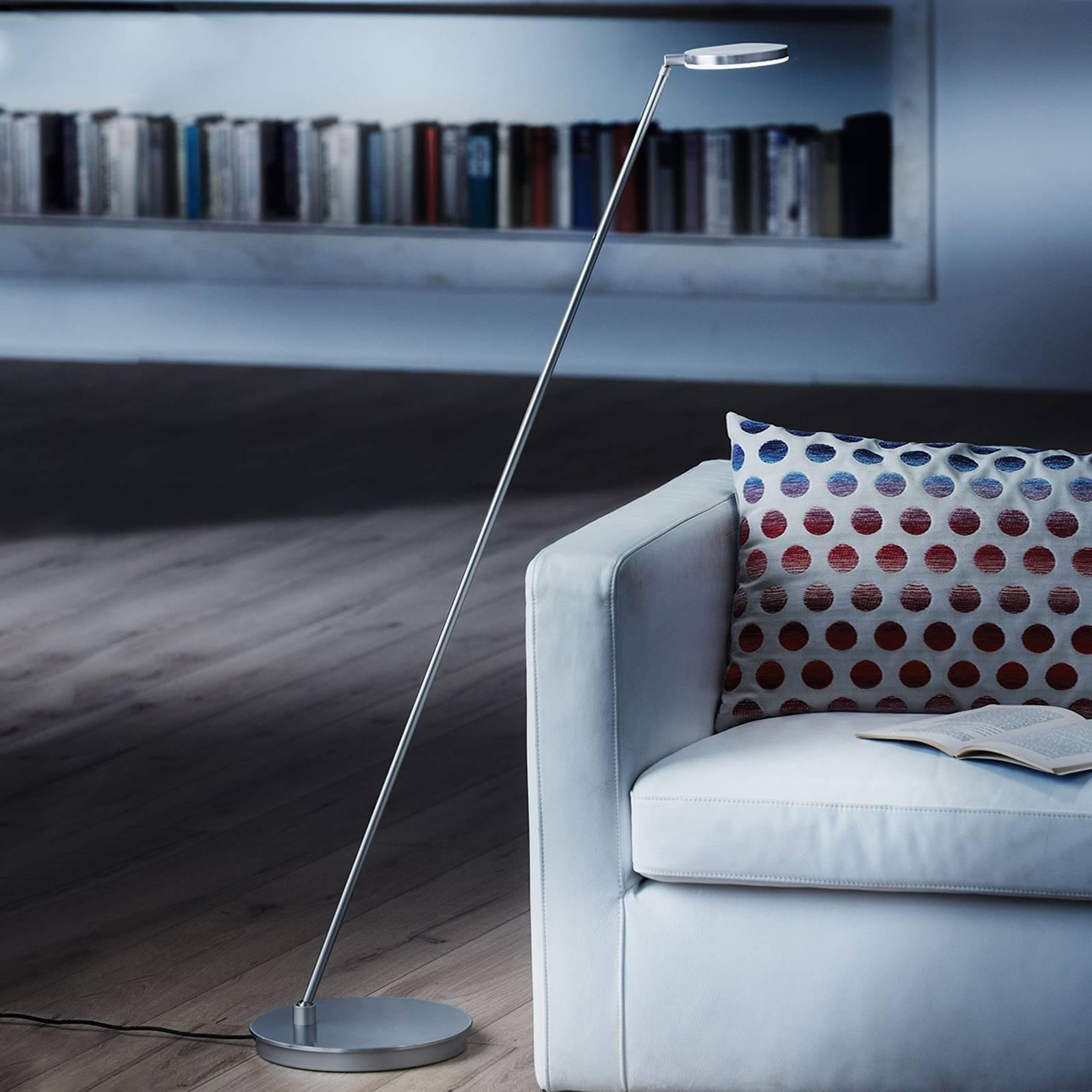 Holtkötter Plano S -LED-lattiavalo, matta-alumiini