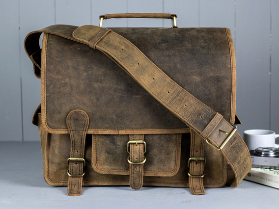 Small Overlander Leather Bag 14 Inch 14 Inch