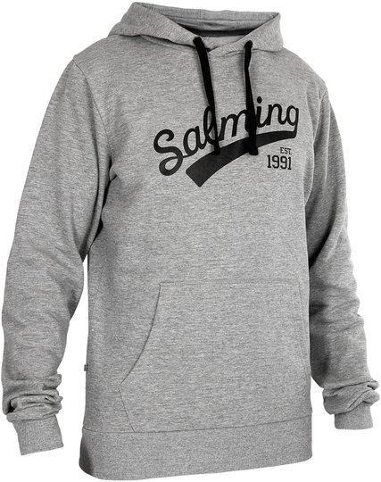 Salming Logo Hood JR Hettegenser, Grey Melange 128
