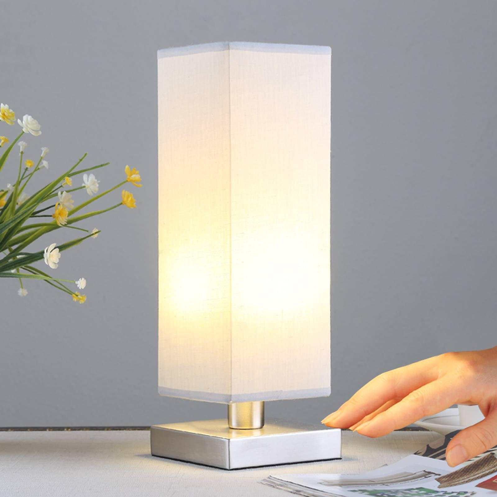 Julina - Tekstilnattbordlampe i grått