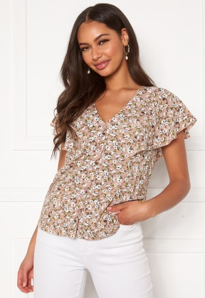 Happy Holly Fiona blouse Light pink / Patterned 44/46