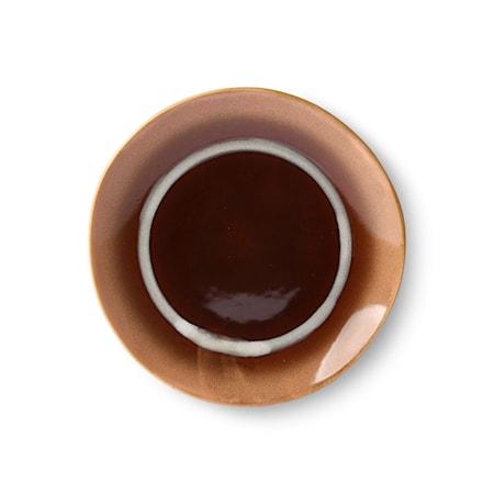Ceramic 70's Desserttallrik Stream