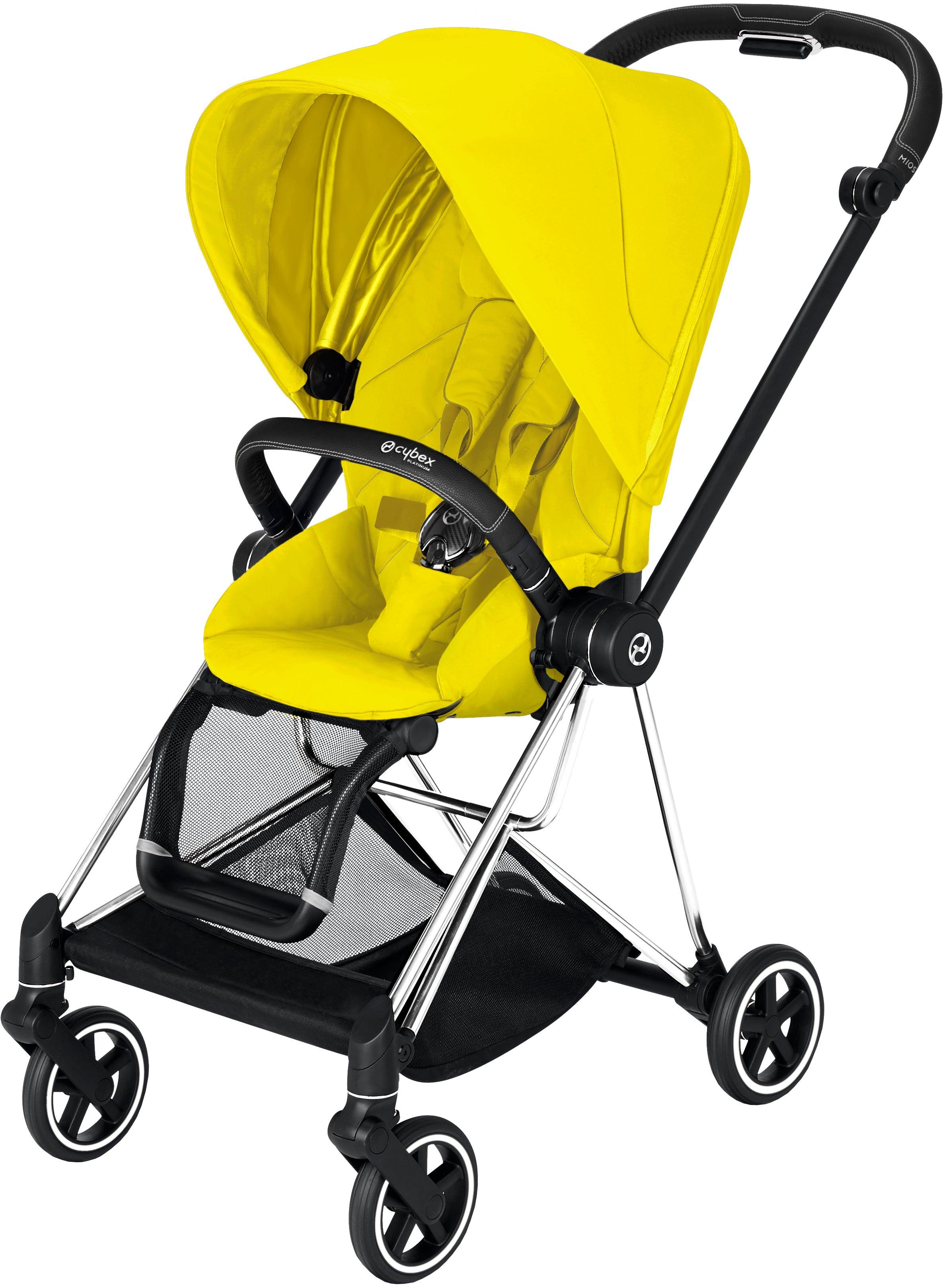 Cybex Mios Sittvagn, Chrome Black/ Mustard Yellow