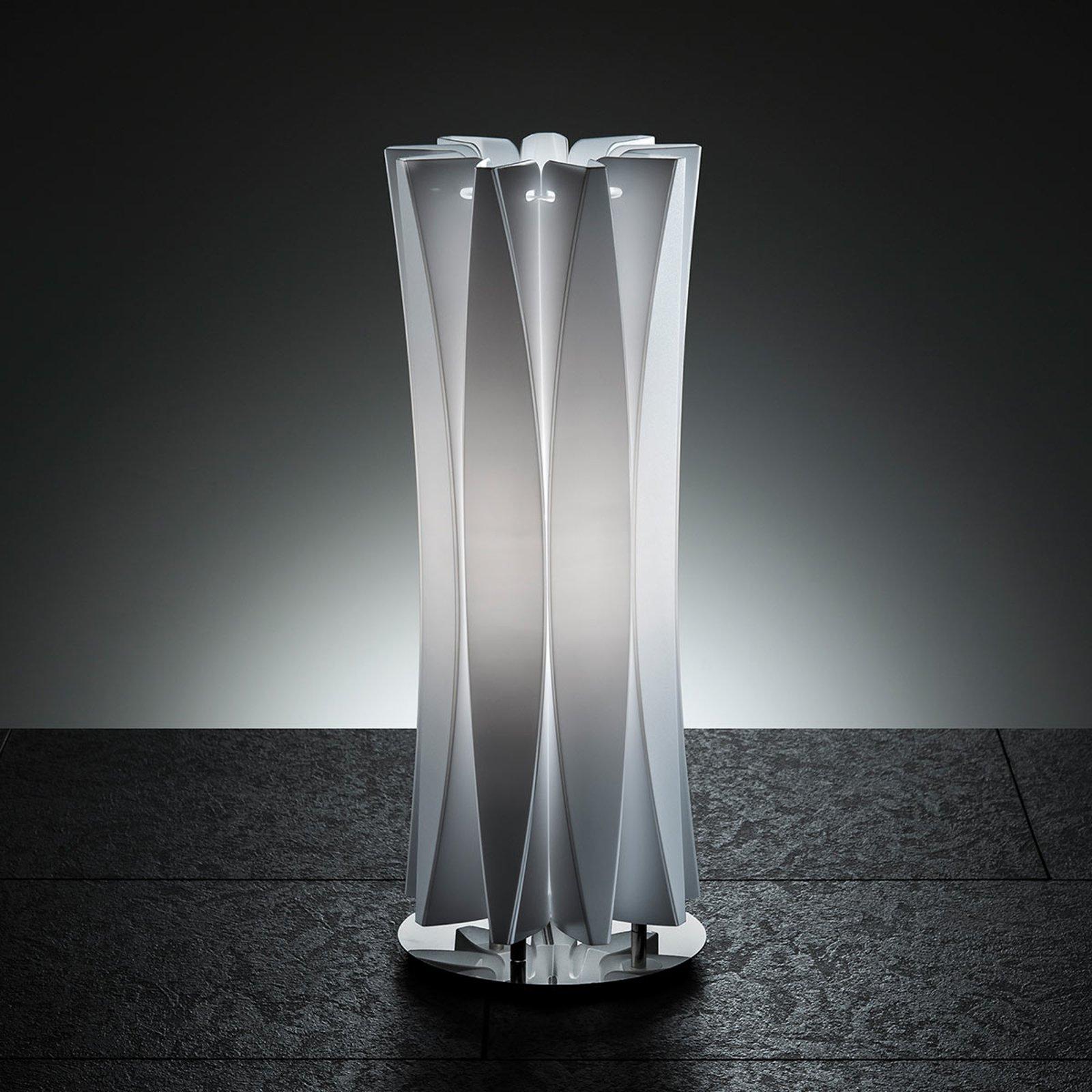 Smakfull bordlampe BACH, høyde 42 cm hvit