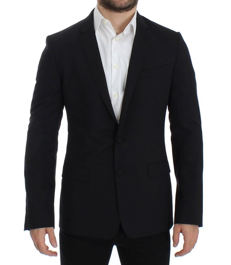 Dolce & Gabbanawool stretch MARTINI Blazer Black SIG12310 - IT48 | M