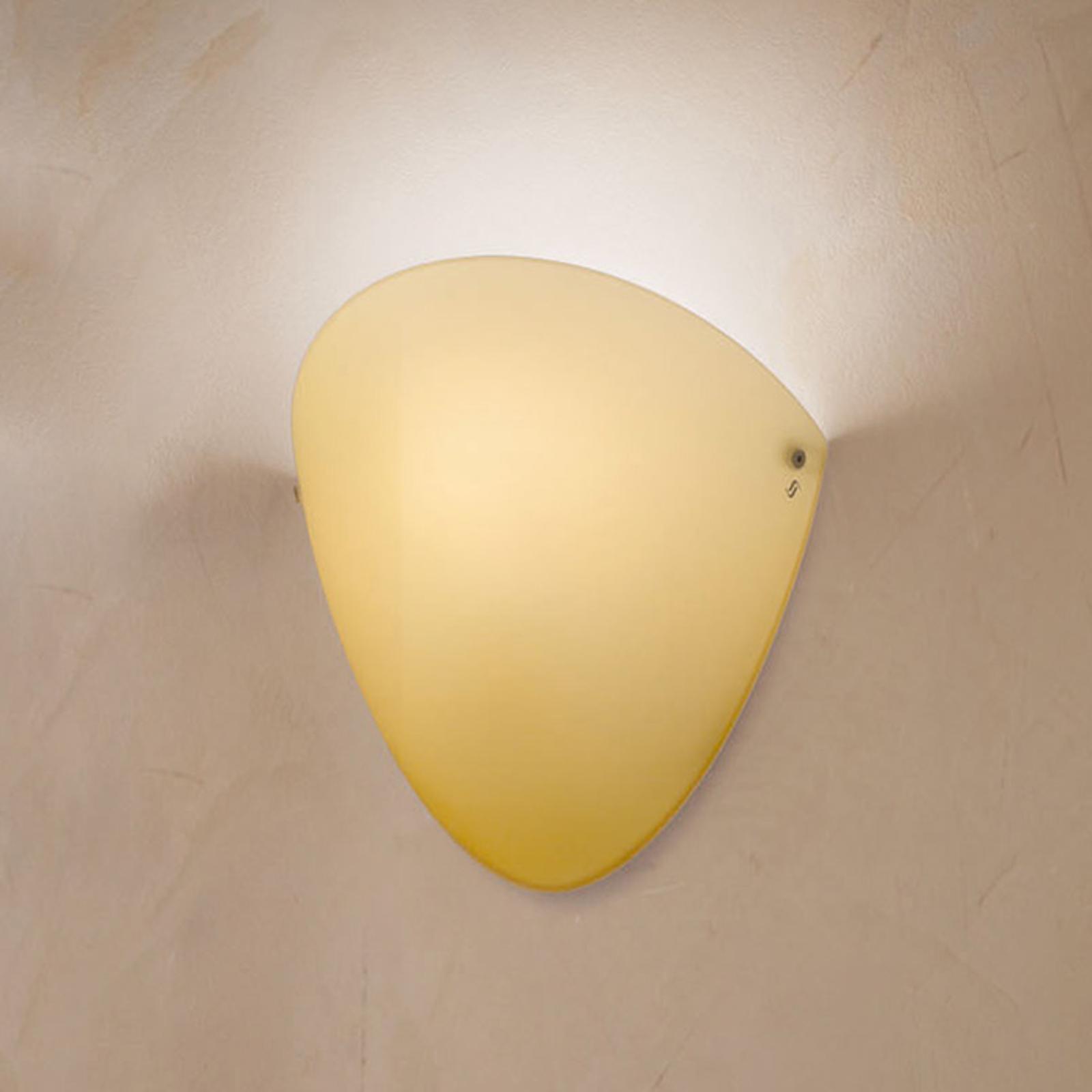 Ovalina - seinälamppu E27, kiiltävä topaasi
