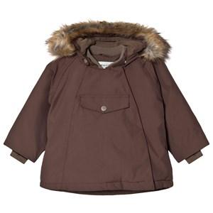 Mini A Ture Wang Faux Fur Jacka Dark Choco 9m/74cm