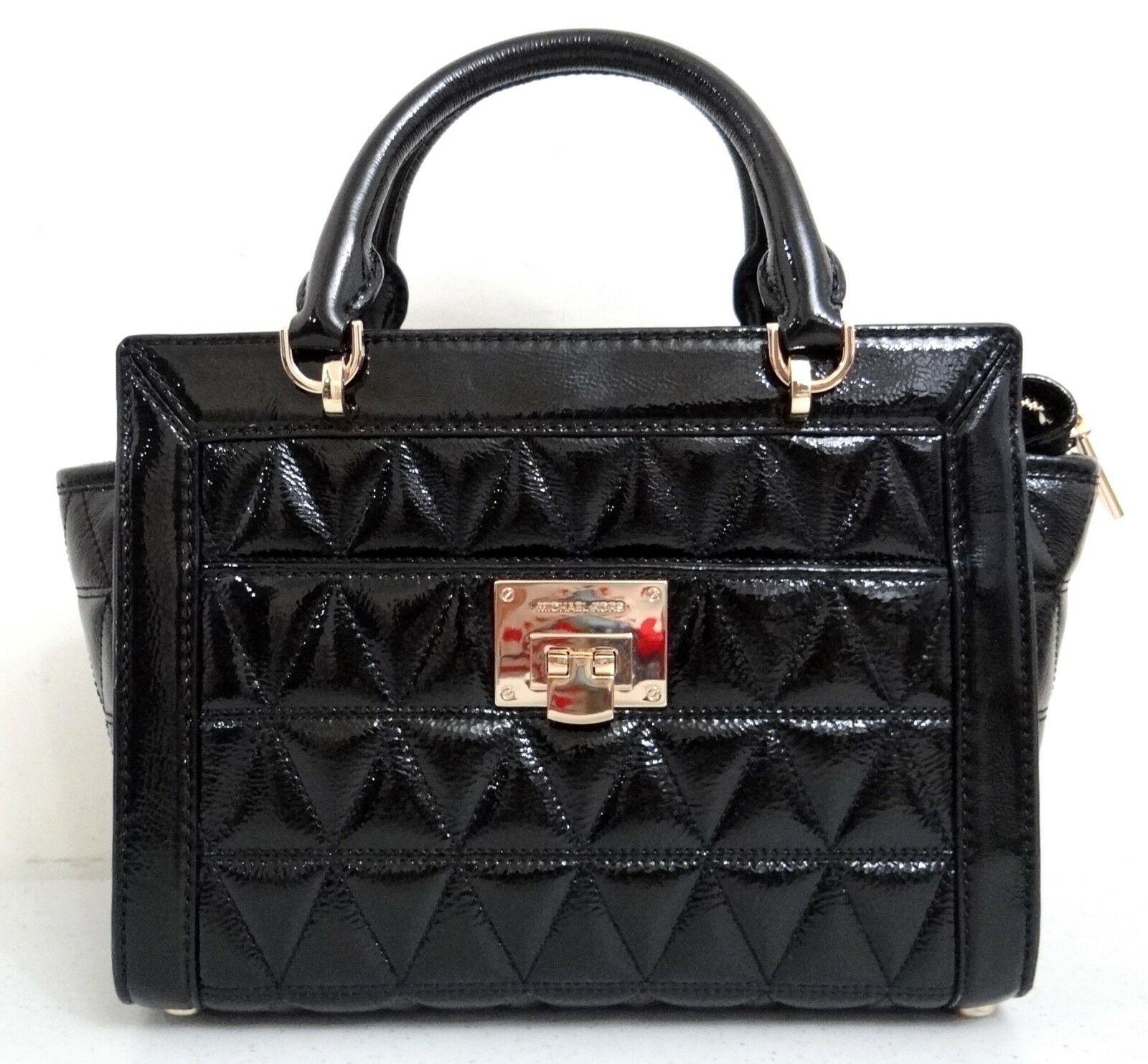 Michael Kors Women's Vivianne Satchel Crossbody Bag Black MK27329
