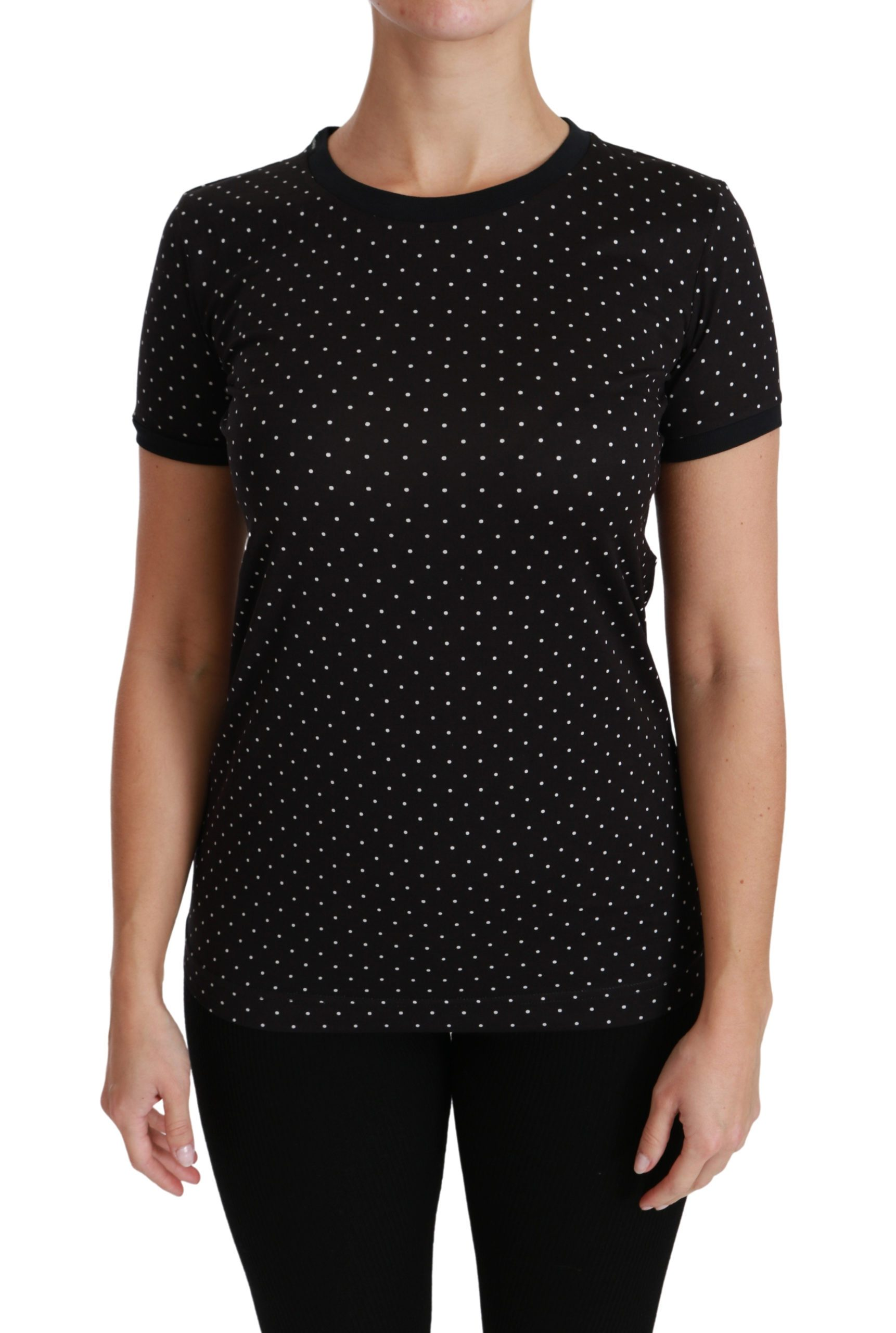 Dolce & Gabbana Women's Short sleeve T-shirts Black TSH4431 - IT36   XS