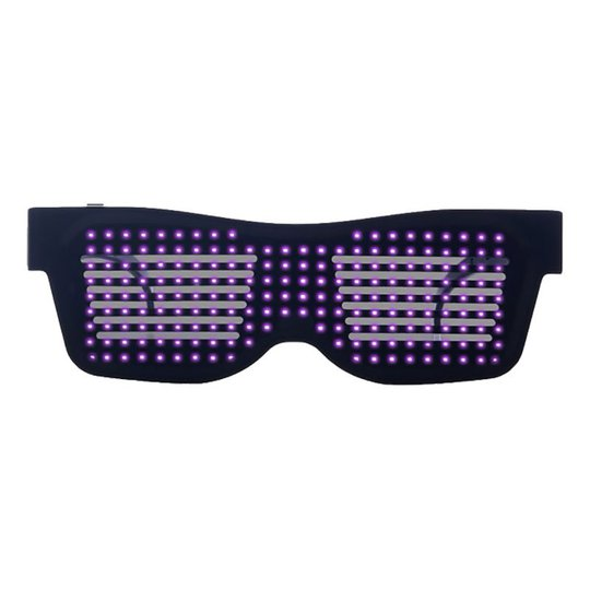 LED Bluetooth Glasögon - Rosa