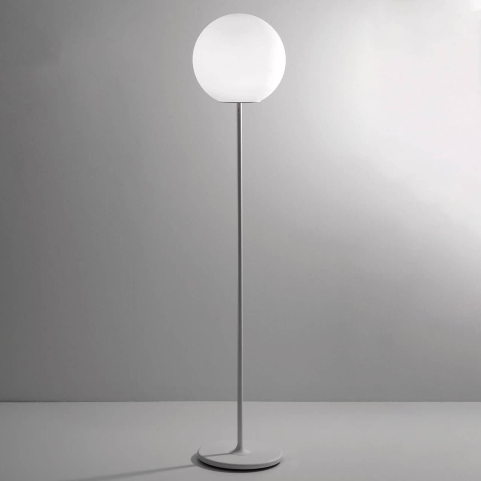 Fabbian Lumi Sfera gulvlampe av glass, Ø 40 cm