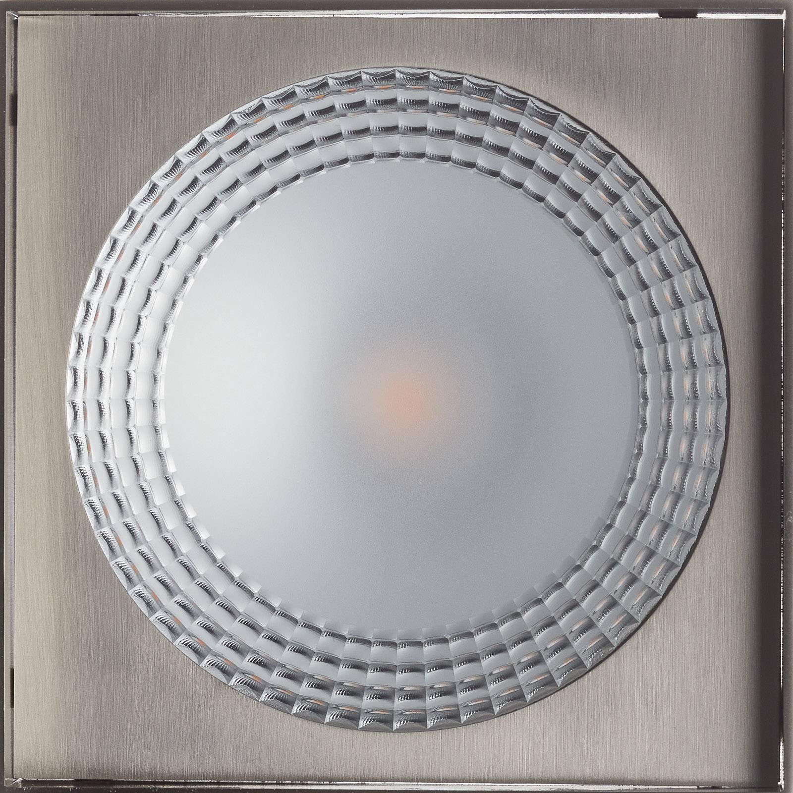 Helestra Kari LED-taklampe, kantet, nikkel