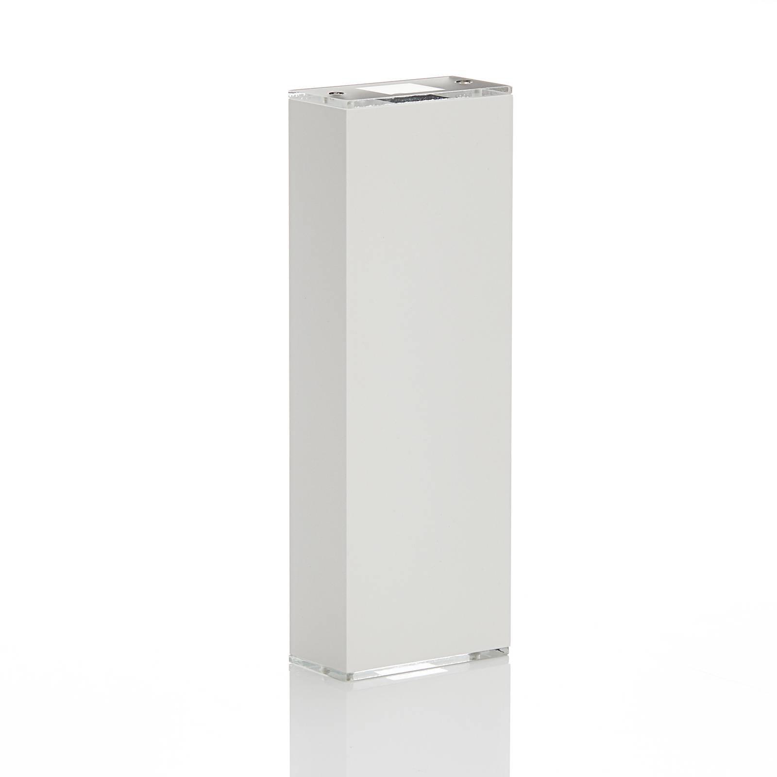 Lucande Anita LED-vegglampe hvit, høyde 26 cm