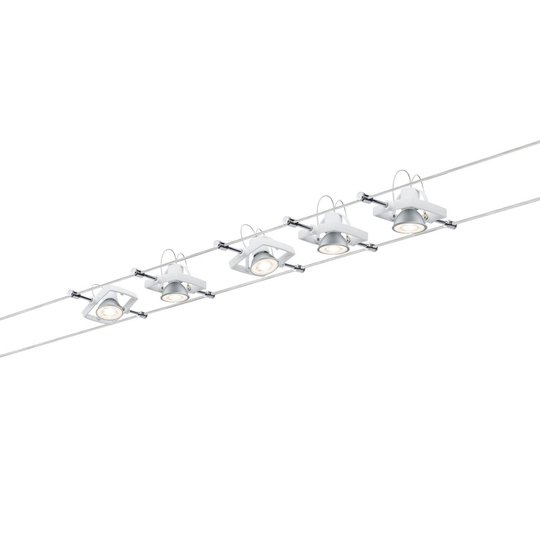 Paulmann Mac II -5-lamppuinen valkoinen