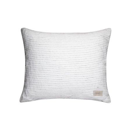 Putetrekk Hvit med Svarte Striper 50x60 cm