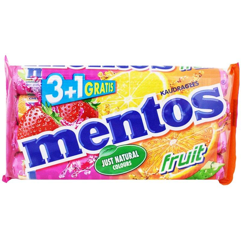 """""""Mentos Fruit"""" Makeisia 4x38g - 40% alennus"""