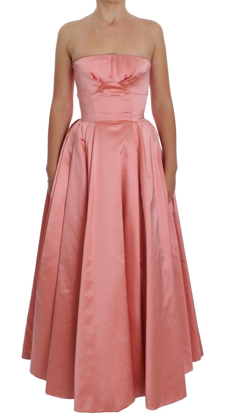 Dolce & Gabbana Women's Silk Ball Gown Full Length Dress Pink NOC10136 - IT36 | XS