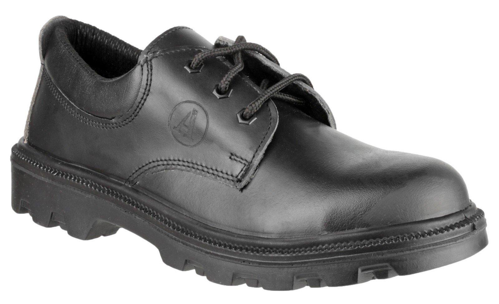 Amblers Unisex Safety Lace up Shoe Black 08155 - Black 6