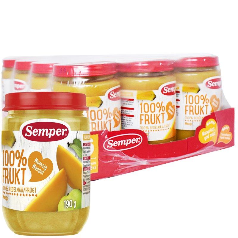 Kokonainen Laatikollinen - Lastenruoka Mango 12 x 190g - 38% alennus