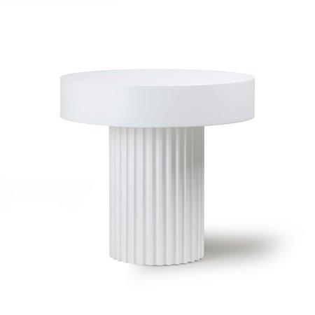 Pillar Sofabord Rundt White