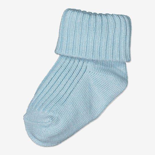 Ensfargede sokker baby blå