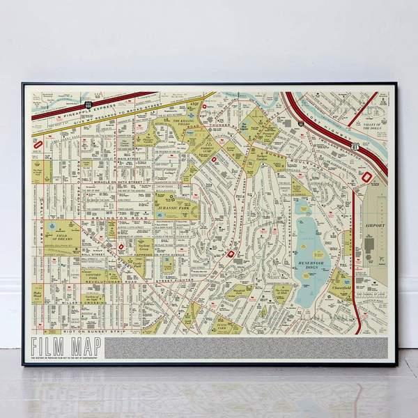 Film Map Art Print
