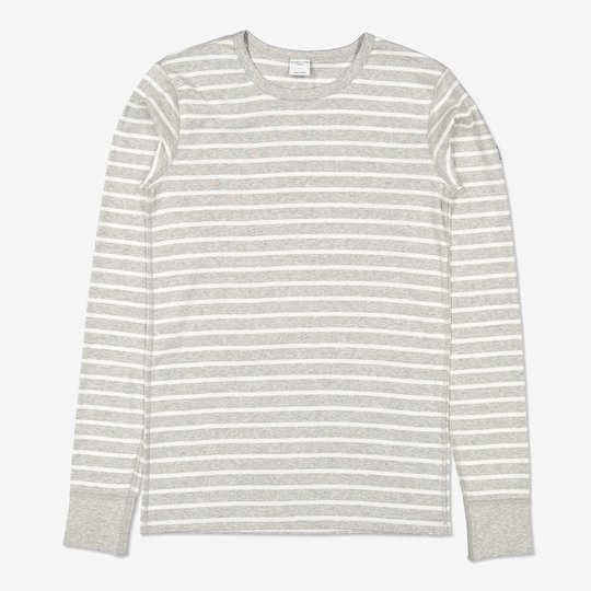 Stripet genser voksen gråmelange