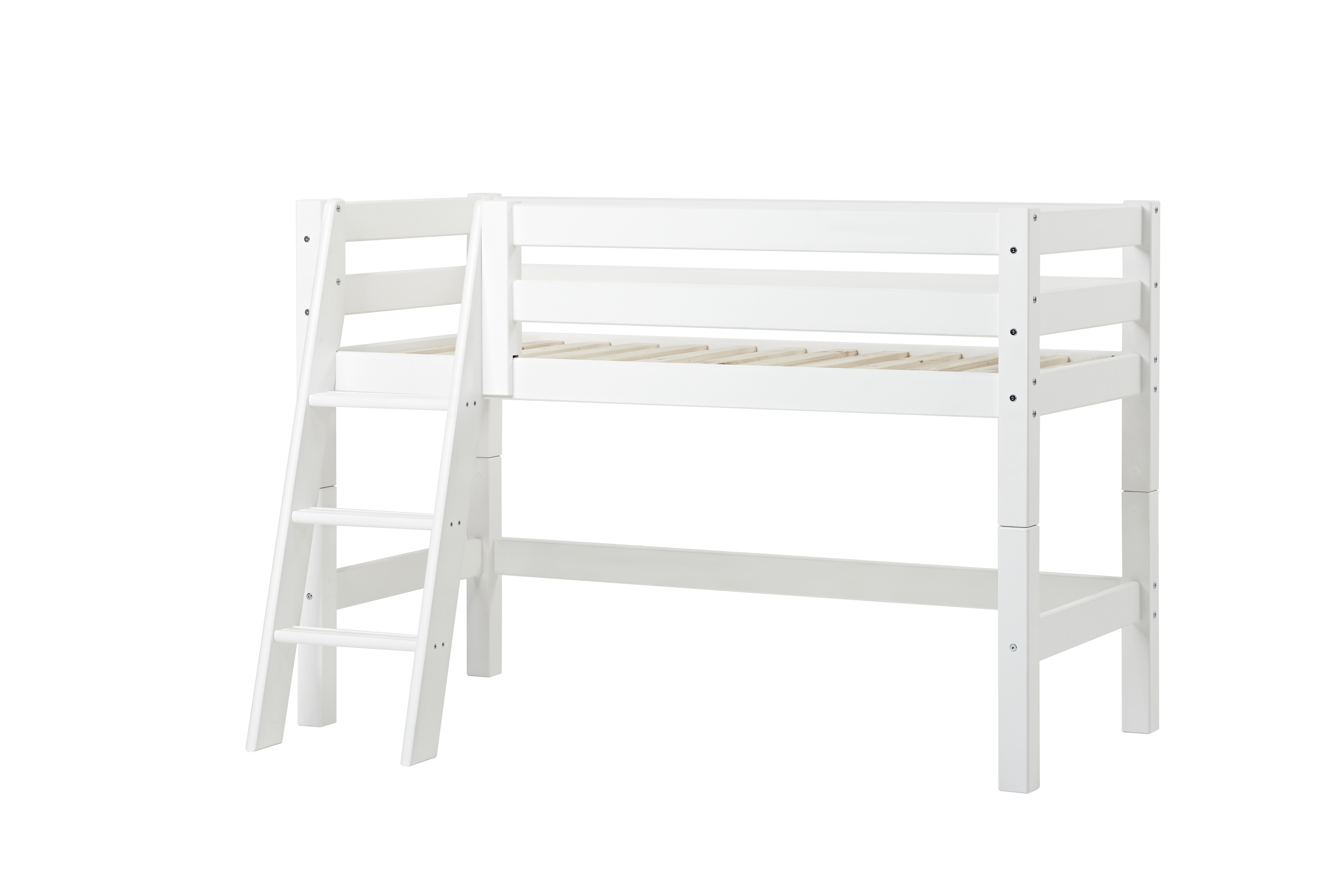 Hoppekids - PREMIUM Halfhigh Bed 70x160 with Slant Ladder