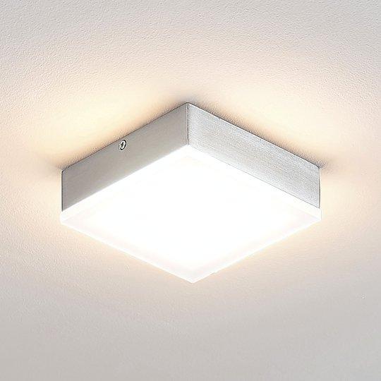 Lindby Tamito LED-kattovalaisin, nikkeli, 12 cm