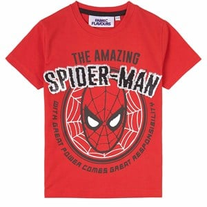 Fabric Flavours Spider Man Flip Sequin T-shirt Röd 3-4 years