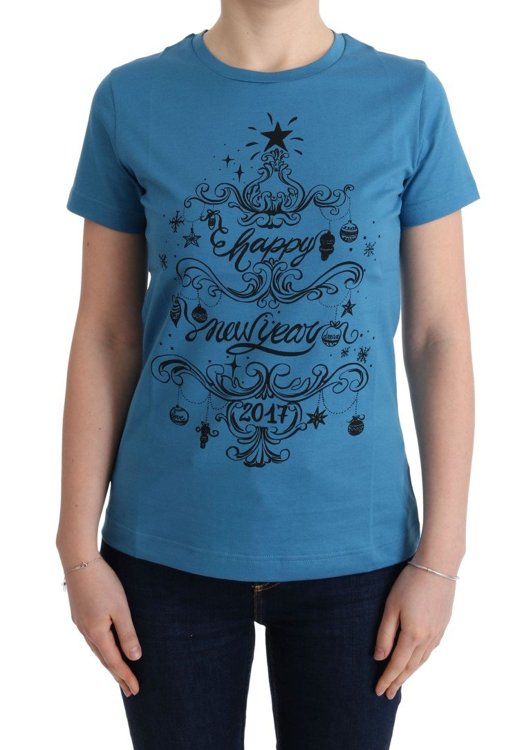 Dolce & Gabbana Women's Printed T-Shirts Blue TUI10008 - IT44|L