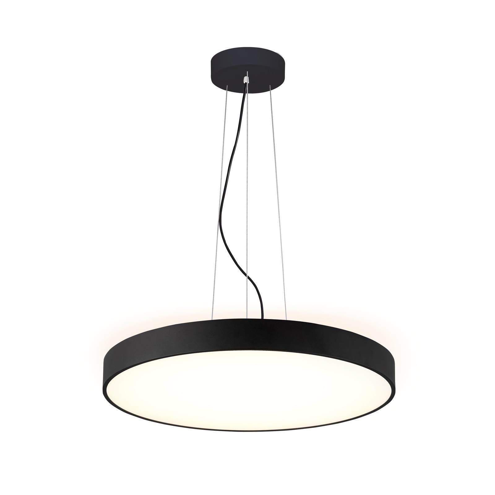 Arcchio Vanida -LED-riippuvalaisin, musta, 60 cm