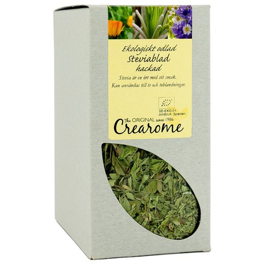 Crearome Ekologiska Steviablad Hackade, 100 g