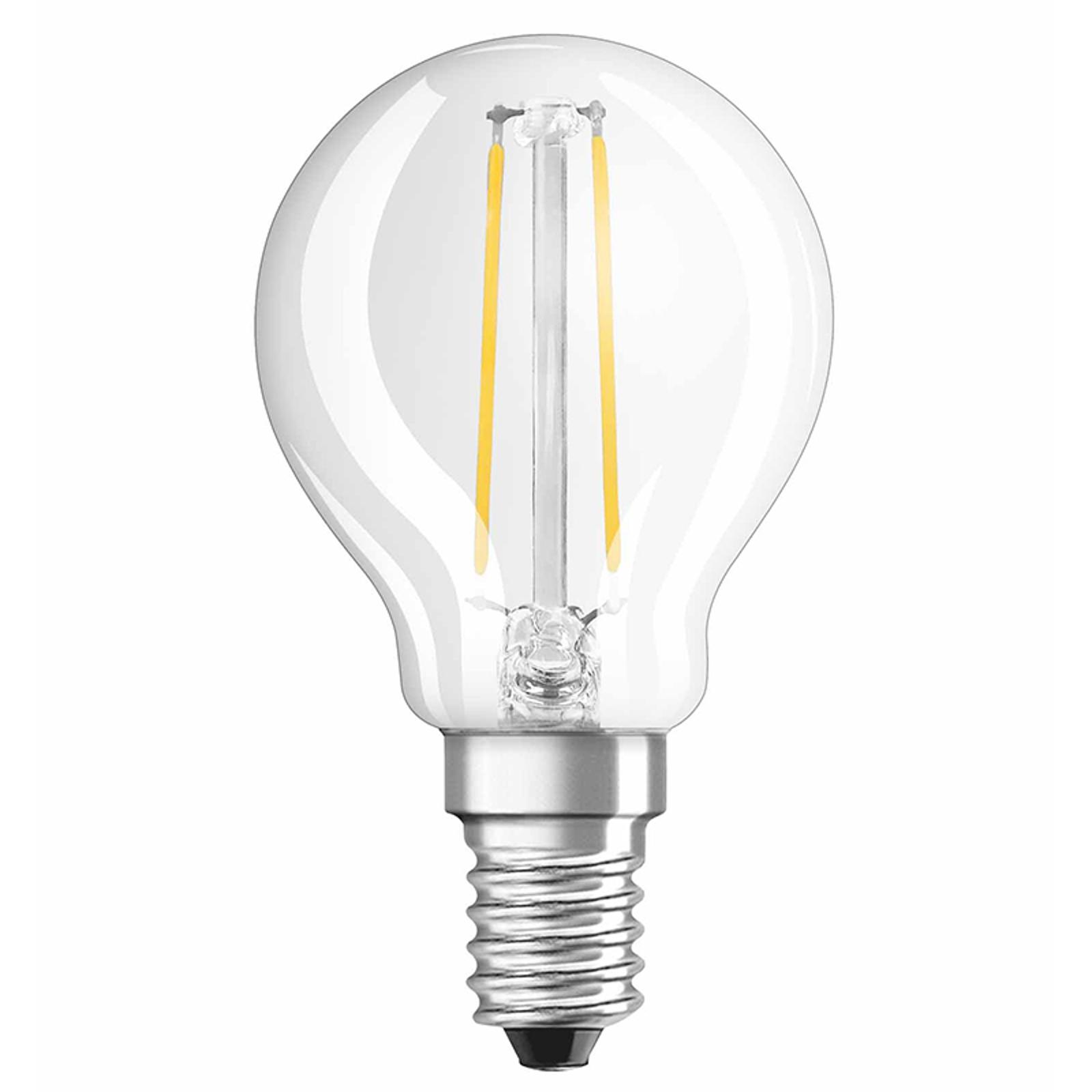 OSRAM-LED-lamppu E14 pisara 2,5W 827 Retrofit