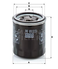 Öljynsuodatin MANN-FILTER W 6025