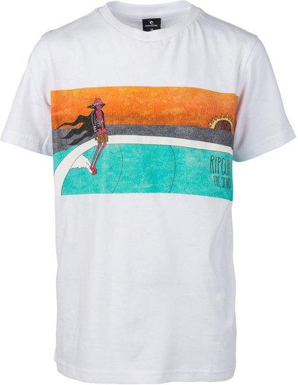 Rip Curl Dead Sled T-Shirt, Optical White 12 år