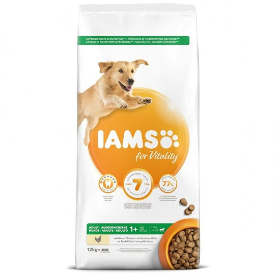 Iams for Vitality Dog Adult Large Breed Chicken 12 kg