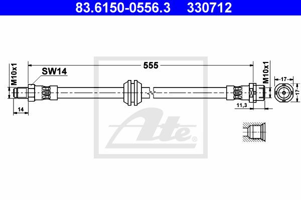 Jarruletku ATE 83.6150-0556.3