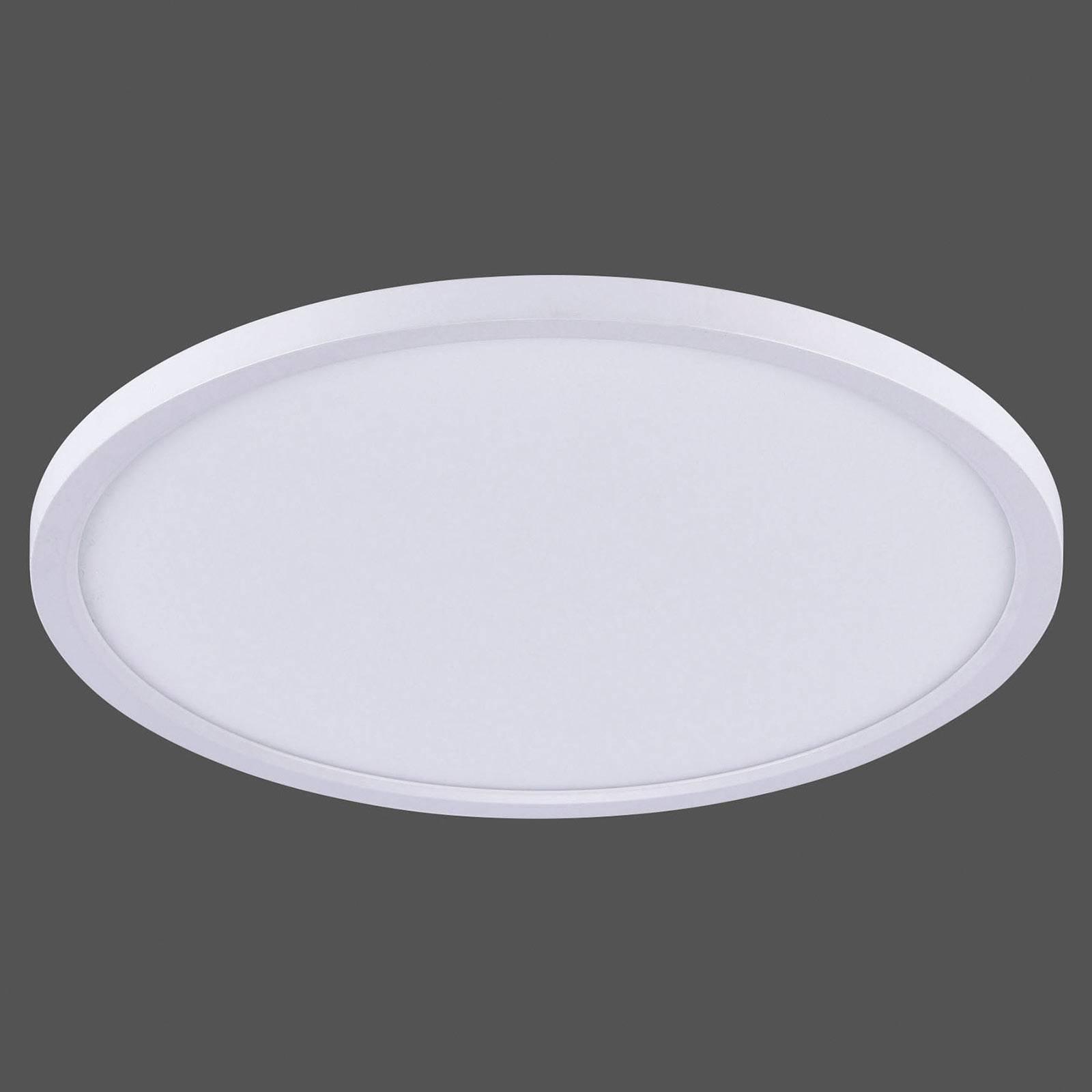 Flat LED-taklampe CCT, Ø 40 cm, hvit