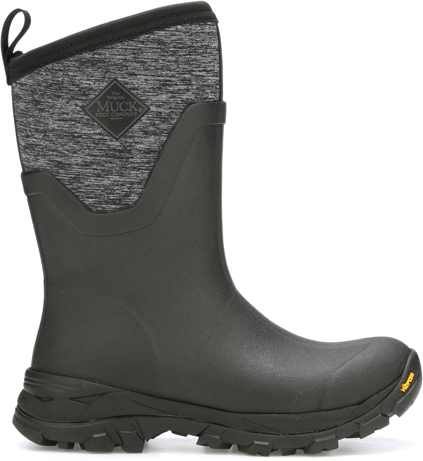 Muck Boots Unisex Arctic Ice Mid Boot Various Colours 27615 - Black/Heather Jersey 3