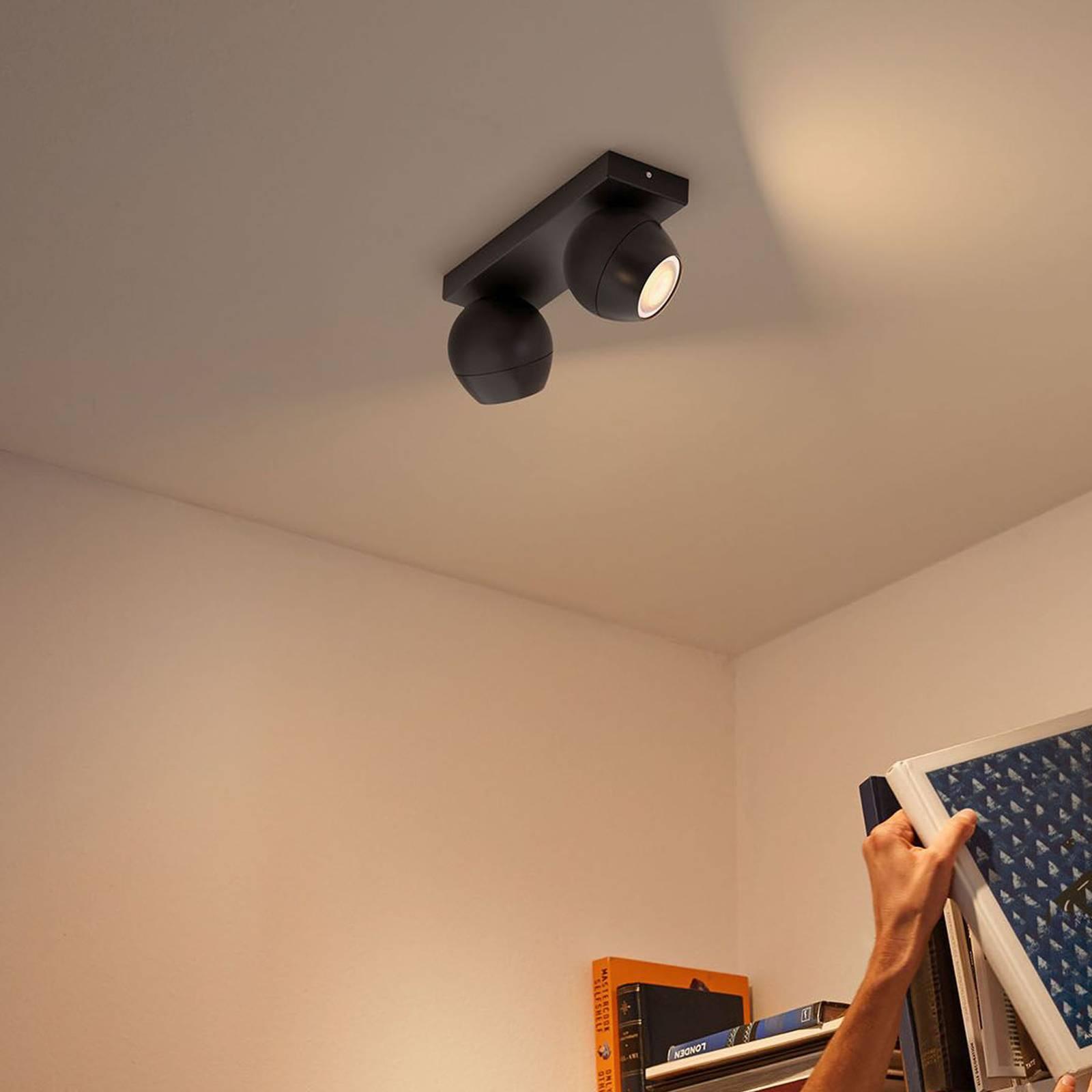Philips Hue Buckram 2-lamppuinen musta