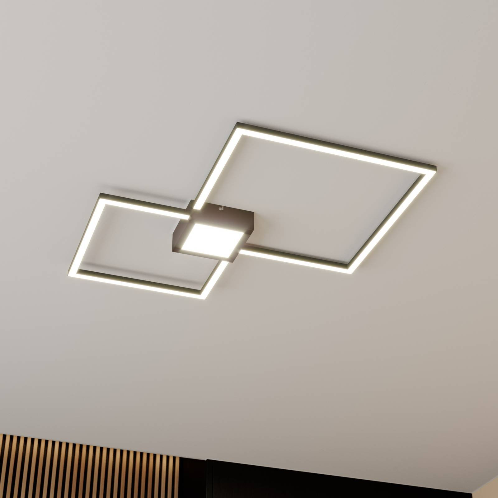 Lindby Duetto LED-taklampe antrasitt 28 W