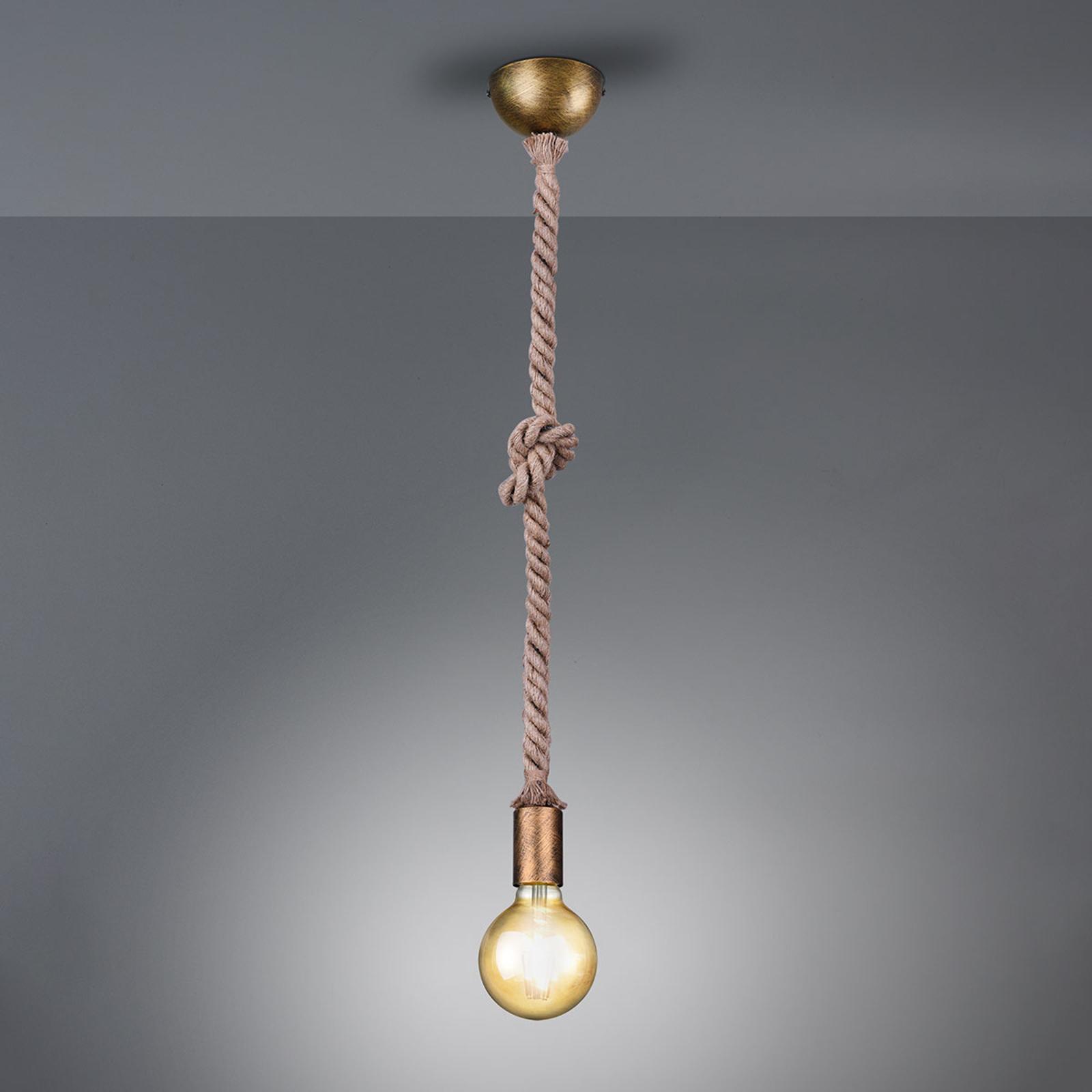 Riippuvalo Rope koristeellinen vaijeri 1 lamppu