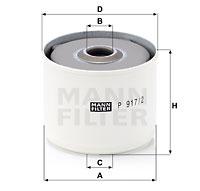 Polttoainesuodatin MANN-FILTER P 917/2 x