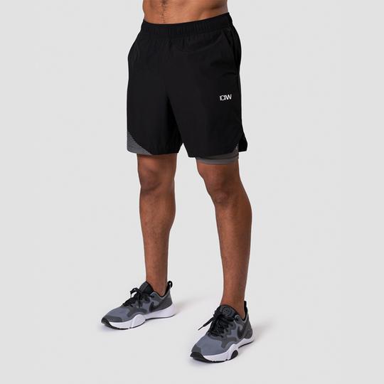 Smash Padel 2-in-1 Shorts, Black/Grey
